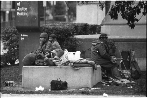 Homelessness: Jim Hubbard photo